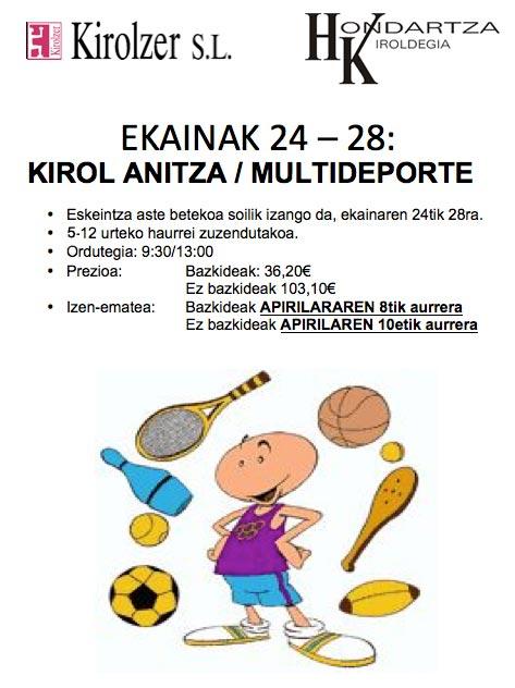 Kirol Anitza Ekainak 24 - 28